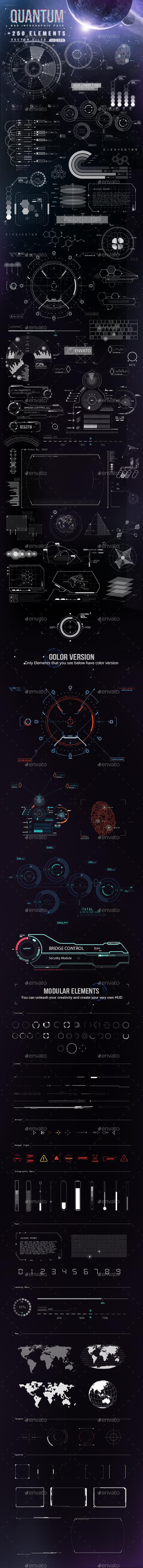 GraphicRiver Quantum HiTech HUD Creator Kit 9020363