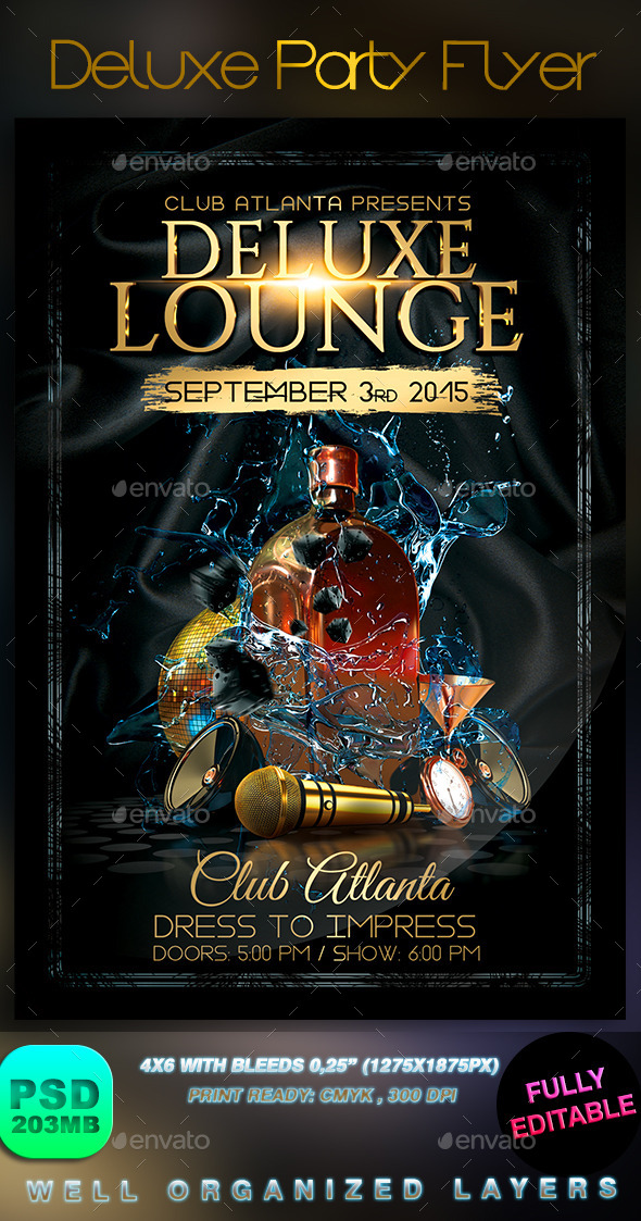 GraphicRiver Deluxe Party Flyer 9026141