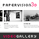 Papervision 3D Video Gallery - ActiveDen Item for Sale