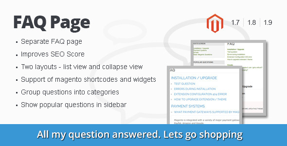 CodeCanyon FAQ Page Magento Extension 9026211