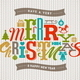 Christmas Type Design on a Knitted Background - GraphicRiver Item for Sale