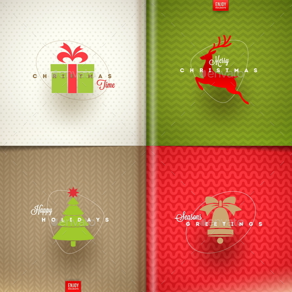 GraphicRiver Set of Christmas Greeting Design 9026480