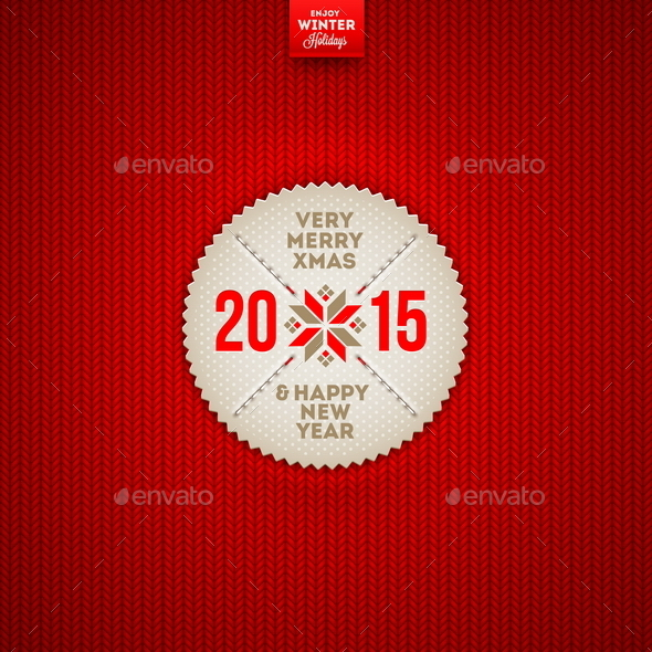 GraphicRiver Christmas and New Year Greeting Label 9026576