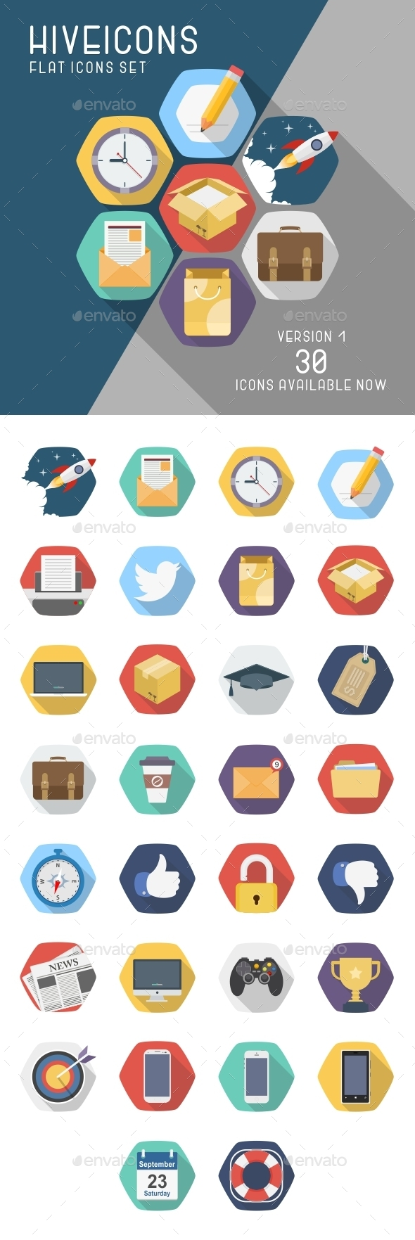 GraphicRiver Hive Icons Set 9026645