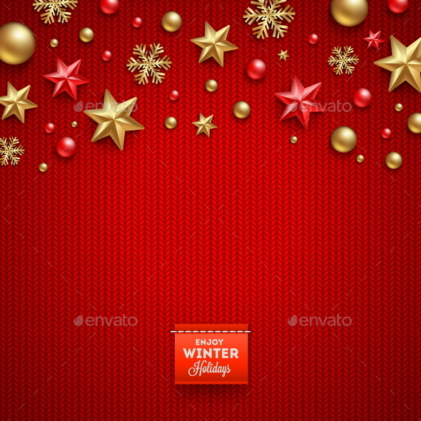 GraphicRiver Christmas Decorations and Greeting Label 9026661
