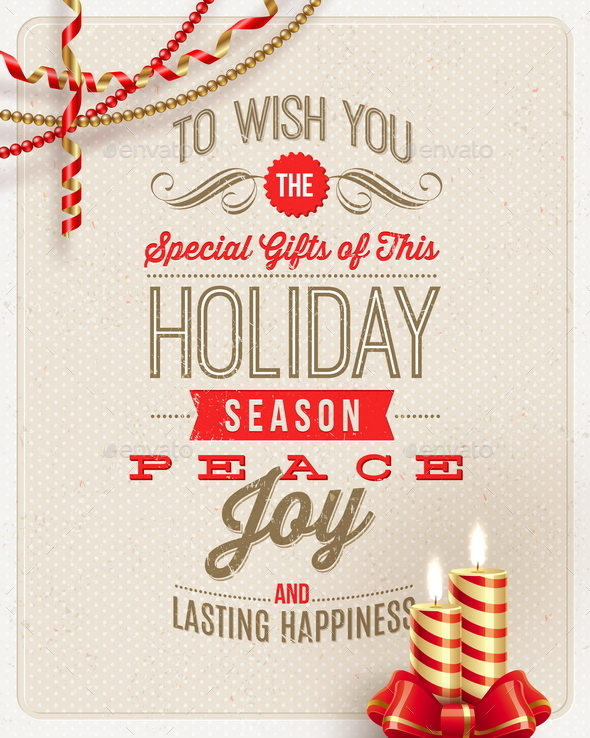 GraphicRiver Christmas Type Design with Holidays Decoration 9026934