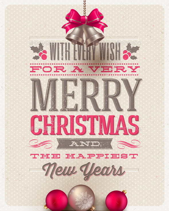 GraphicRiver Christmas Type Design and Holidays Decoration 9026982