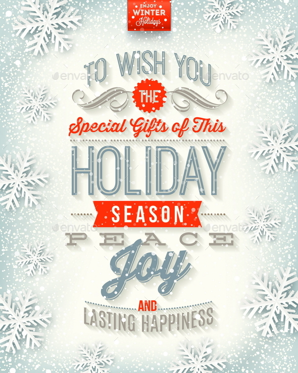 GraphicRiver Christmas Illustration Holidays Type Design 9027005
