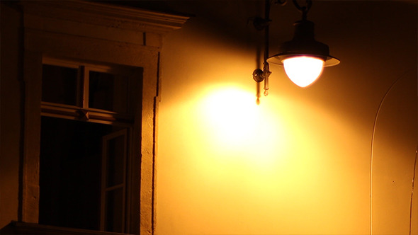 Night Window and Lamp