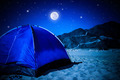 Camp tent on the beach at night - PhotoDune Item for Sale