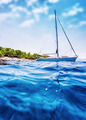 Luxury sailboat in the sea - PhotoDune Item for Sale