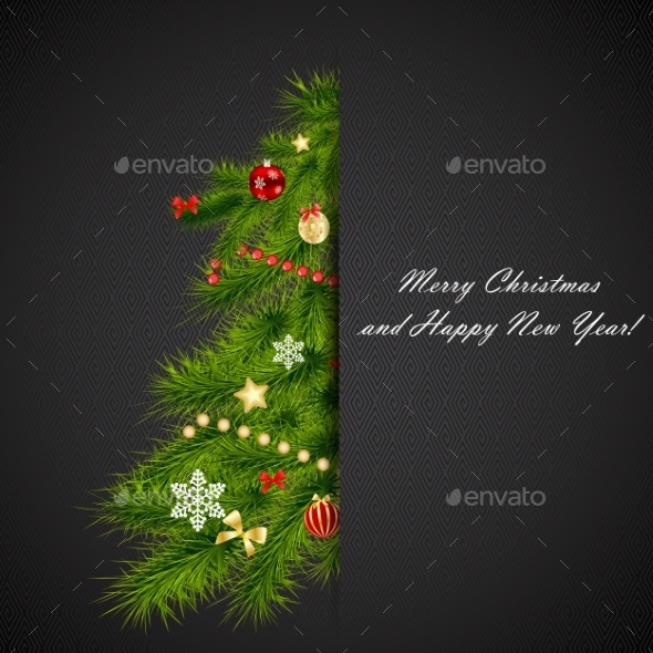 GraphicRiver Abstract Beauty Christmas and New Year Background 9027200