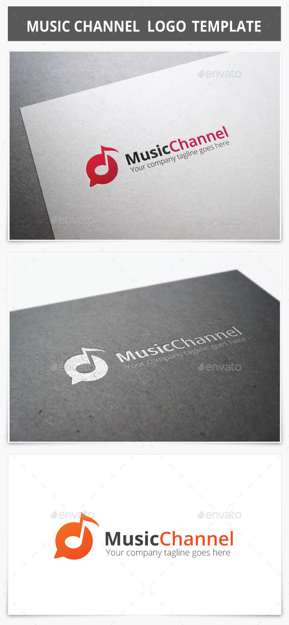 GraphicRiver Music Channel Logo 9027326