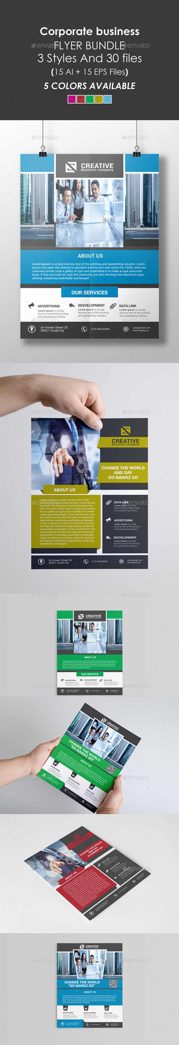GraphicRiver Corporate Flyer Bundle 9027417