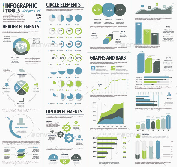 GraphicRiver Infographic Tools Designer s Kit Recolored 9027420