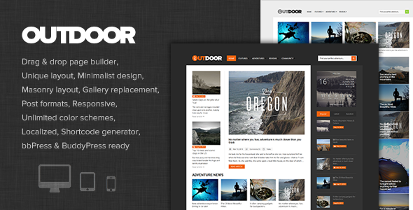 ThemeForest Outdoor Responsive Adventure Blog and Magazine 9027493