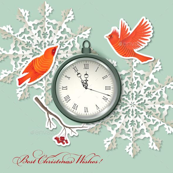 GraphicRiver Scrapbook Christmas Background 9027732