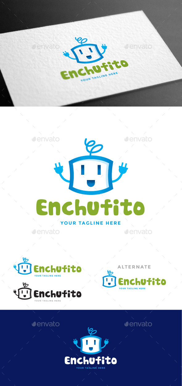 GraphicRiver Enchufito Logo Template 9027773