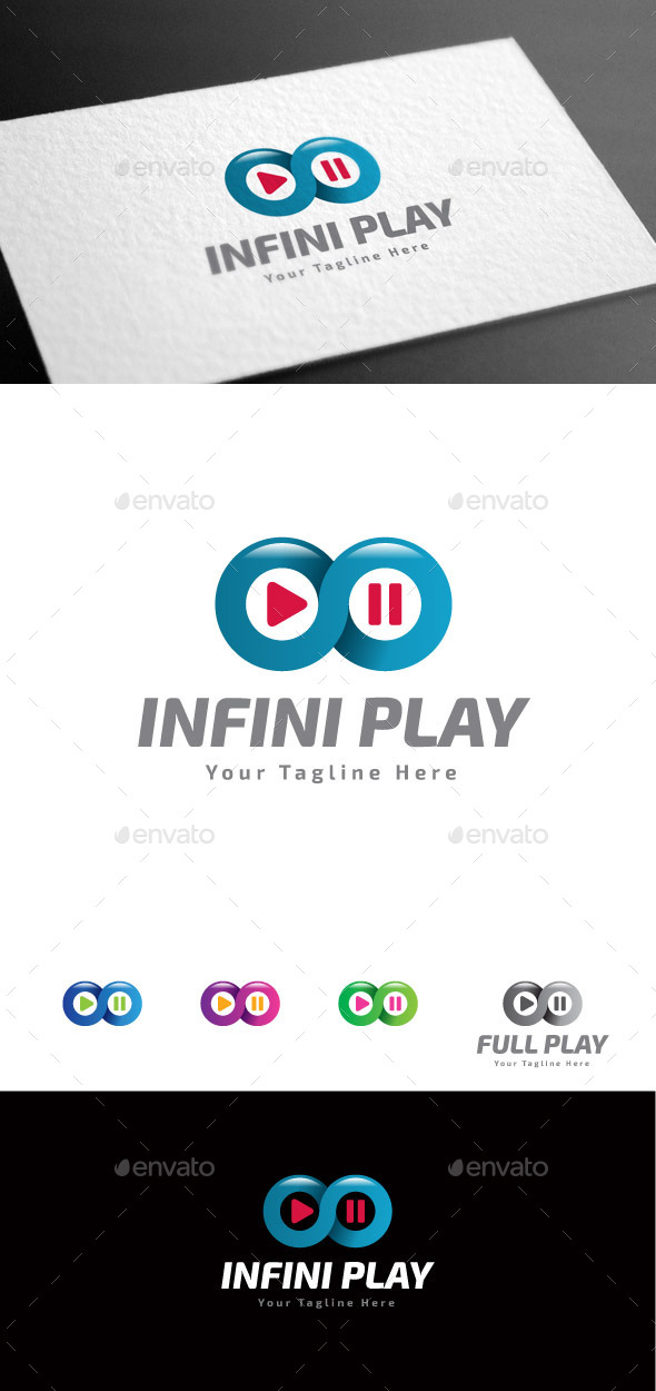GraphicRiver Infini Play Logo Template 9027844