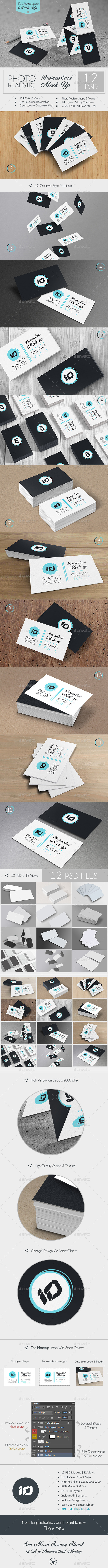 GraphicRiver ID Business Card Mock-Up Photorealistic 9027858
