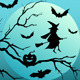 Halloween Witch with Bats - GraphicRiver Item for Sale