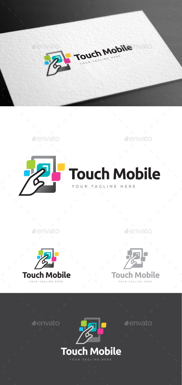GraphicRiver Touch Mobile Logo Template 9028040
