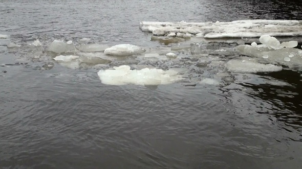 Ice Floe Floats in Water 2