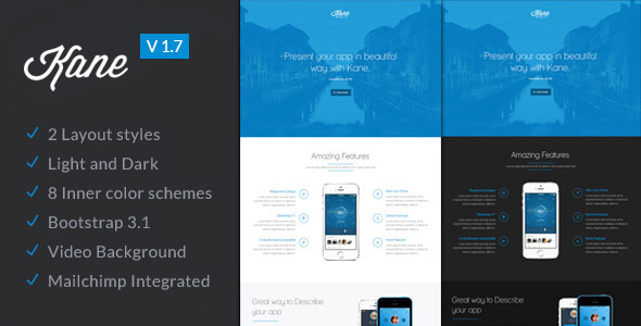 Kane - Responsive Bootstrap 3 App Landing Page - Apps Technology