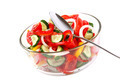 Fresh vegetable salad in a glass dish. - PhotoDune Item for Sale