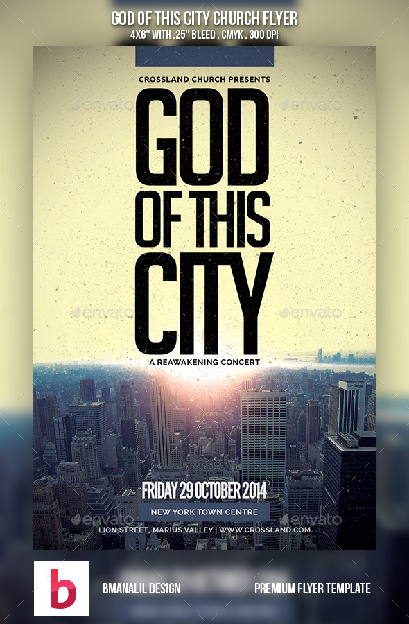 GraphicRiver God of This City Church Flyer 9028278