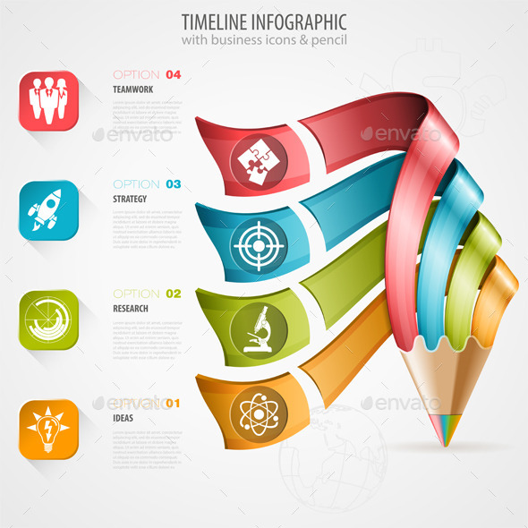 GraphicRiver Timeline Infographic 9028302