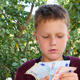 Boy Smelling Euro Notes - VideoHive Item for Sale