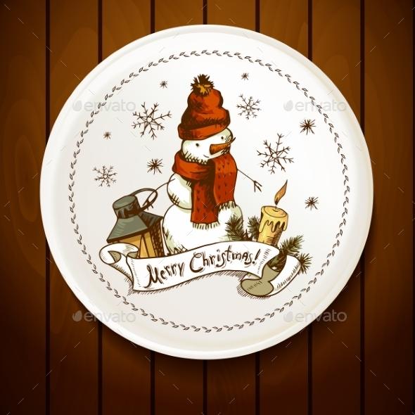 GraphicRiver Hand-Drawn Christmas Invitation Card 9028547