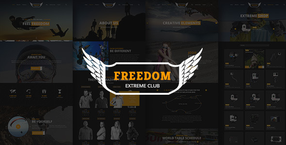 ThemeForest Freedom Extreme Club Powerful PSD Template 8913340