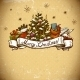 New Year Greeting Card with Christmas tree - GraphicRiver Item for Sale