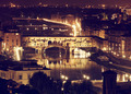 Florence, Arno River and Ponte Vecchio by night. - PhotoDune Item for Sale