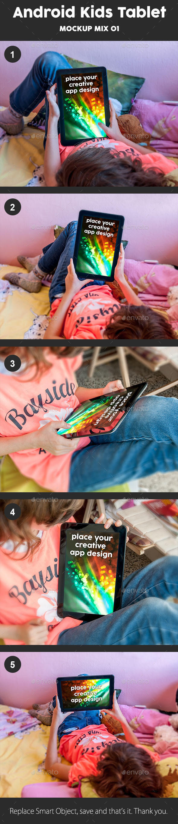 GraphicRiver Kids Tablet Mockup 9028608