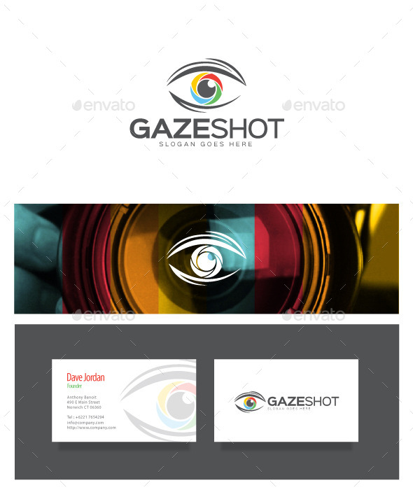GraphicRiver Gaze Shot Photography Logo 9020562