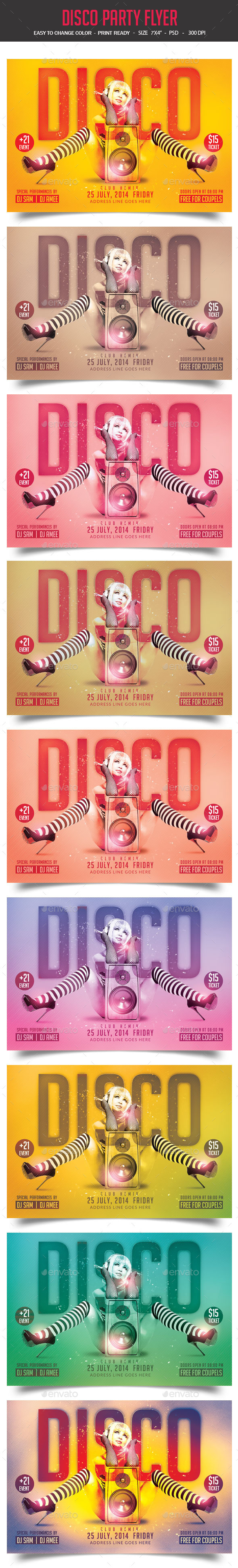 GraphicRiver Disco Party Flyer 9029090