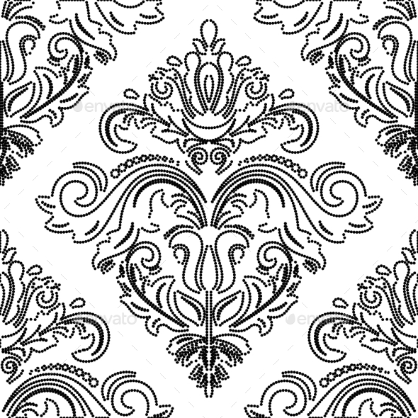 GraphicRiver Damask Seamless Vector Pattern Orient Background 9029231