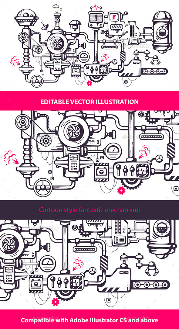 GraphicRiver Complicated Mechanism at Work 9029467