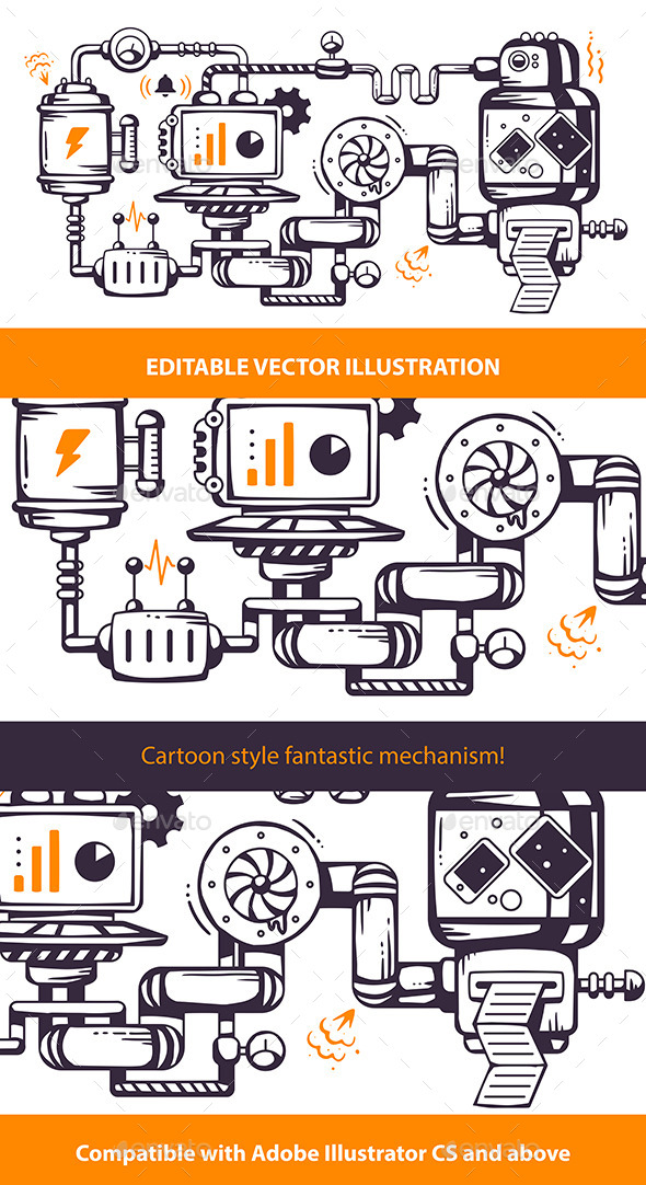 GraphicRiver Print Industrial Operating Mechanism 9029520