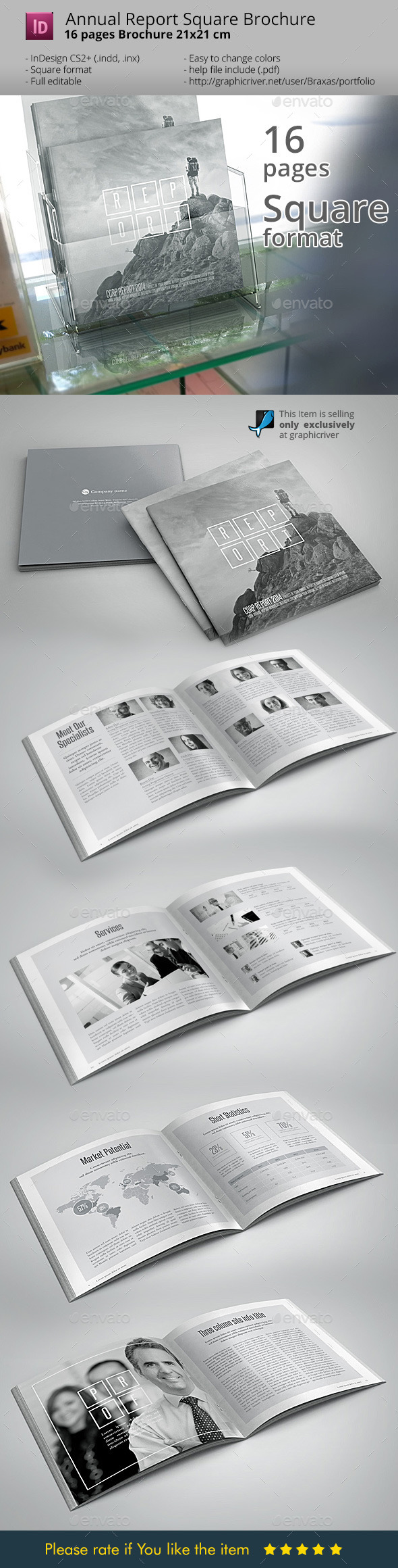 GraphicRiver Annual Report Black & White design 9029522