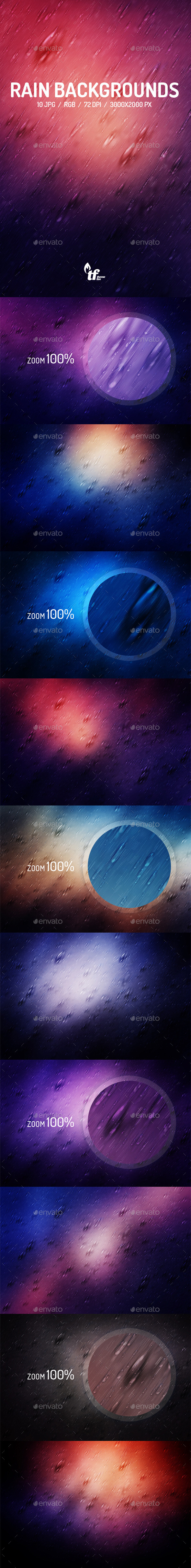 GraphicRiver Rain Backgrounds 9029550