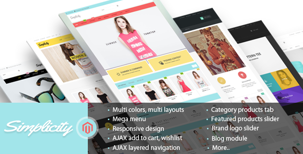 ThemeForest Simplicity Responsive Magento Theme 8996827