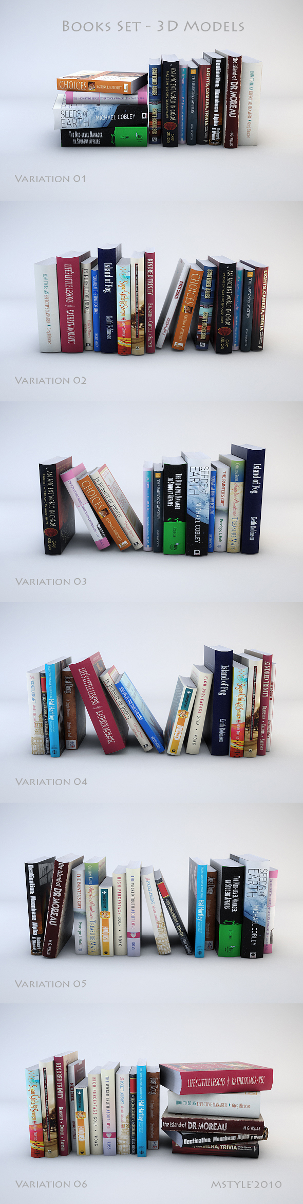 3DOcean Books Set 3D Models 117103