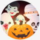Hipster Halloween Avatar Fl-Graphicriver中文最全的素材分享平台
