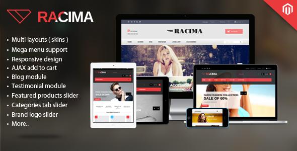 Racima – MultiStores Magento Theme