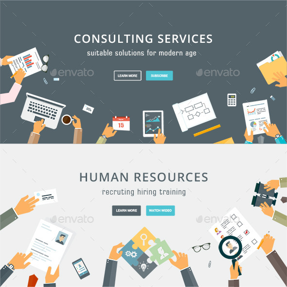 GraphicRiver Business Services and Human Resources Concepts 9030510