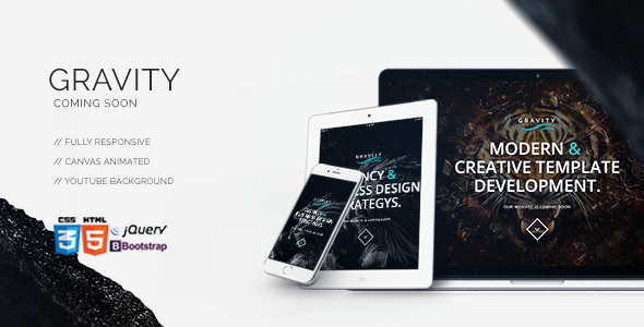 ThemeForest Gravity Coming Soon Under Construction 8875822